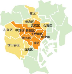 訪問診療エリア地図